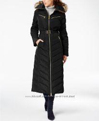 Пуховик MICHAEL Michael Kors Maxi Faux-Fur-Trim Belted Sale оригинал