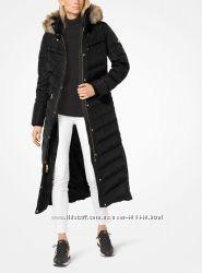 Пуховик MICHAEL Michael Kors Faux-Fur-Trim Quilted Maxi оригинал
