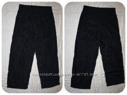 Черные болоневые штаны на флисе р.104