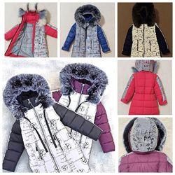 Зимняя куртка для девочки Комби, отражайка, р.134-152