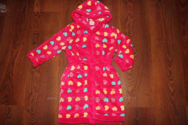 Махровый, теплый халат на девочку 3-4 года
