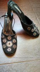 Туфли женские черные, размер 39