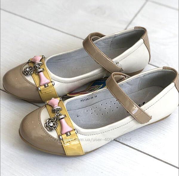 Туфли B&G для девочки р.34 22см Акция
