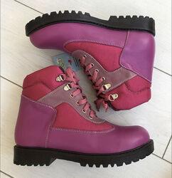 Зимние кожаные ботинки ECOBY для девочки, р.36