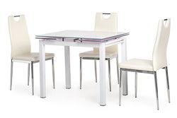 Обеденный стеклянный стол T-231-8, белый