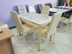 Продам стол стеклянный Т-300-2, молочный