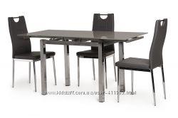 Стол стеклянный раскладной T-231-8, серый