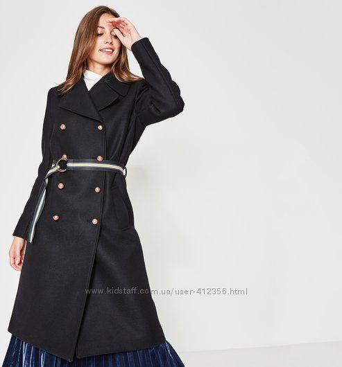 Трендовое двубортное пальто Promod оригинал