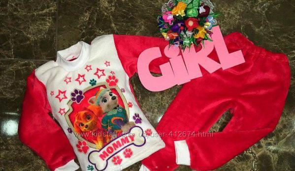 Махровые вельсофт пижамки для девочек Русалочка, Скай и Эверест, Тигрята