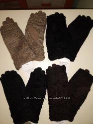 Теплые перчатки на меху