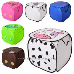 Квадратная корзина для игрушек или белья 45 на 45 см