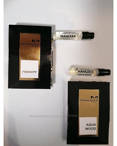 Сэмплы Mancera EDP - 2 мл. Ниша. Aqua Wood. Feminity