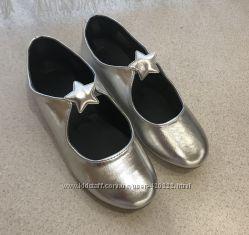 Туфельки серебристые crazy 8