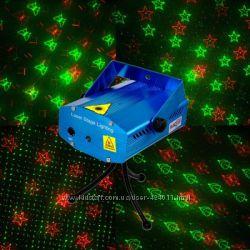Мини лазерный проектор Mini Laser stage с рисунками