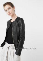 кожаная женская черная куртка xxs-xs, xs-s mango оригинал