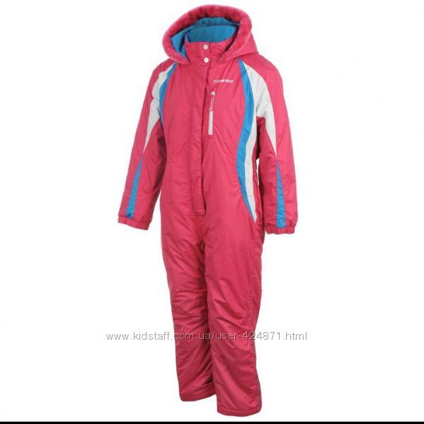 Зимний теплый термо комбинезон розовый девочки  р. 3-4 года campri оригинал