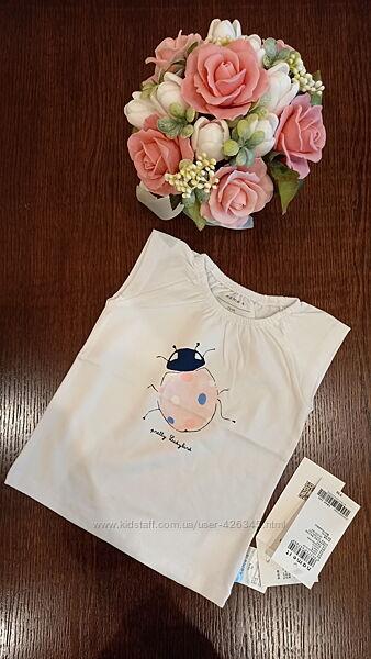 Біла футболка для дівчинки/белая футболка для девочки