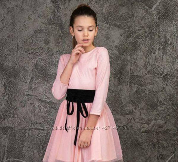 Нарядное платье с фатином Кристал 158р.
