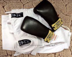 Перчатки кожаные для единоборств, кимоно