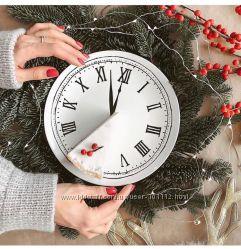 Ограниченная новогодняя коллекция ИКЕА. Оригинальные тарелки часы. В наличи