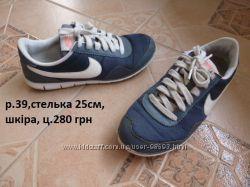шкіряні кросівки Найк р. 39 0db8c018776ee