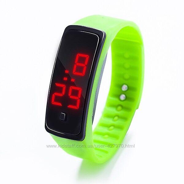 Спортивные силиконовые часы браслет LED