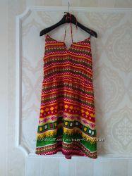 Размер 12-14 Новое фирменное натуральное платье сарафан