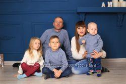 Одинаковый свитер всей семьи, в стиле family look