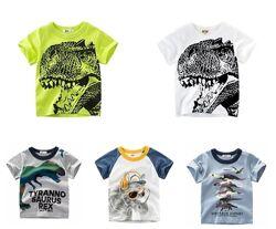 Модные яркие футболки в ассортименте, рост 90-140см