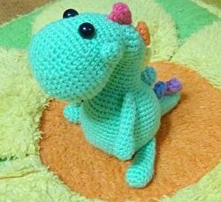 Динозаврик Гаврик - вязаная игрушка ручной работы, Амигуруми