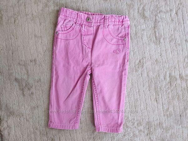 Розовые джинсы, штаны okay, 74, 6-9 мес