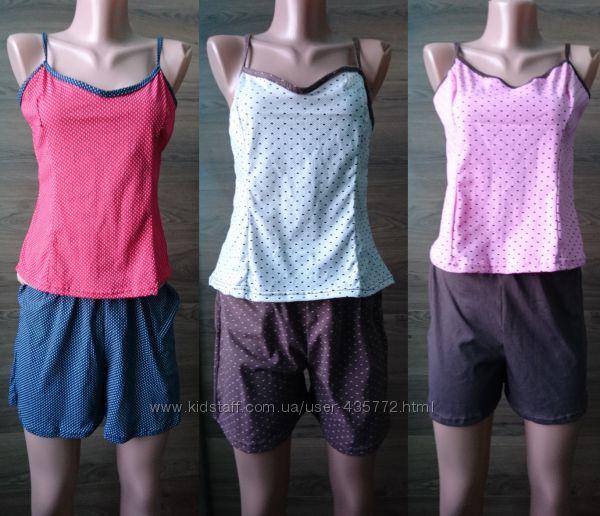 натуральные пижамы разных моделей до 58 размера