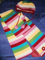 Шапка и шарф Happy School 2-3 года