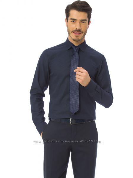 синяя мужская рубашка LC Waikiki ЛС Вайкики