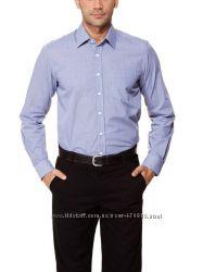Мужская рубашка LC Waikiki ЛС Вайкики в синюю клетку с белыми пуговицами