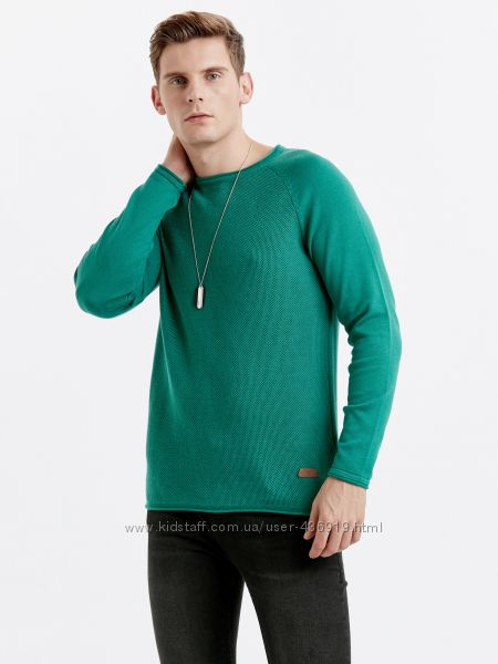 Мужской свитер бирюзовый LC Waikiki  ЛС Вайкики