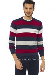 Мужской свитер LC Waikiki  ЛС Вайкики в красную, белую и серую полоску
