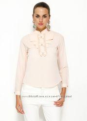 Розовая женская блуза MA&GI с жабо
