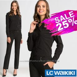 черная женская рубашка LC Waikiki  ЛС Вайкики