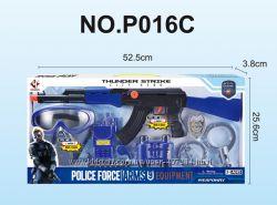 Полицейский набор Limo Toy 33750, маска, автомат, рация, наручники