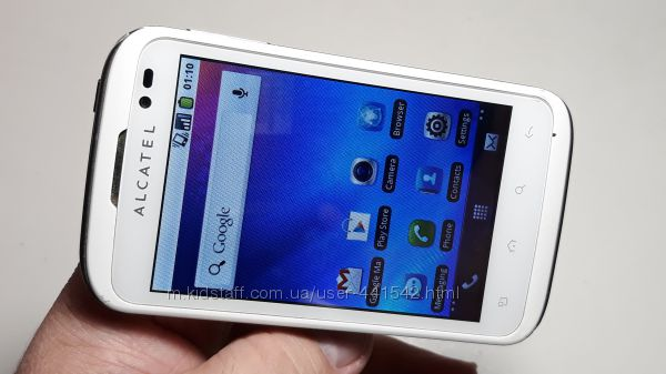 Смартфон Alcatel One Touch 991d белый на 2 сим карты андроид дешево