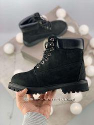 b121226a35a6 Зимние ботинки Timberland 6 Inch Premium Black натуральная овчина