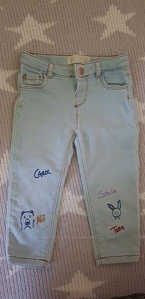 Фирменные джинсы для малышки в отличном состоянии