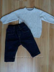 H&M свитер и джинсы для малыша.