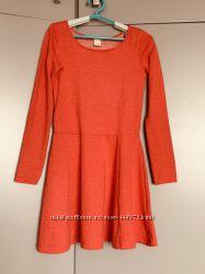 Красное базовое платье H and M