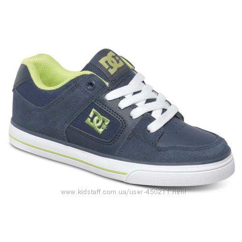 Детские кожаные кеды, кроссовки DC Shoes, оригинал