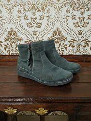 Замшевые ботинки 36 р.