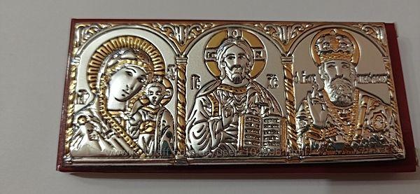 Автомобильные иконы. Триптих. Серебро 925. Благословение.
