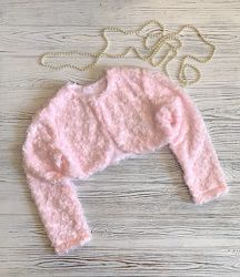 Детское болеро меховое розочки 80-110рр.