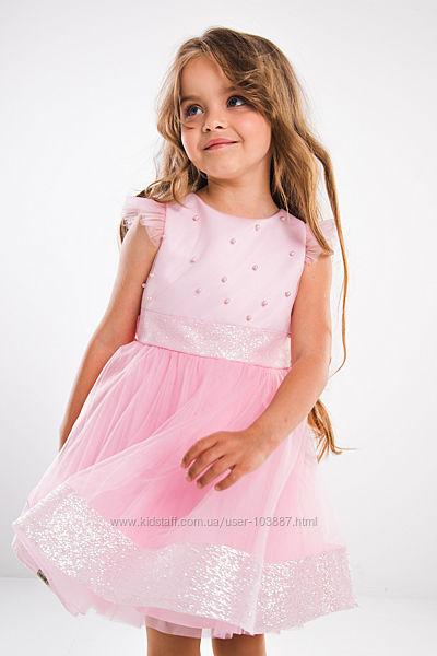 Нарядное платье Джия Suzie розовое для девочек 3-5 лет